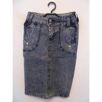 Saia Jeans Cintura Alta Cód. 671