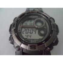 Relógio Atlantis Digital Esportivo Cronômetro Prova Dágua