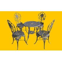 Jogo De Cadeiras Jardim Casa Em Aluminio Fundido
