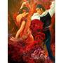 Foto Grande Flamenco Dancer Papel Tela 90x119cm Parede Obra
