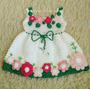 Vestido Crochê Para Recém- Nascido
