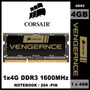 Memória Corsair Vengeance 1 X 4gb Ddr3 1600mhz Notebook