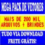 Pacote Com+de 140mil Vetores & Imagens Brinde+59mil Fontes
