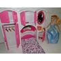 Novo Kit Quarto Boneca Cama Armario Espelho Parecido Barbie