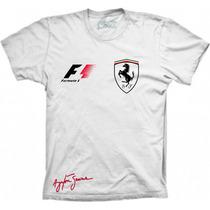 Camiseta - Estampa Ferrai Assinatura Senna F1 Frete Gratis