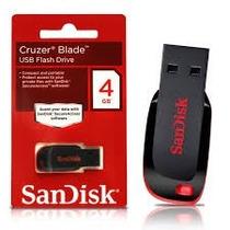 Kit 10 Unidades Pen Drive Sandisk 4gb Original Atacado