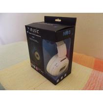 Headphone Com Radio, Cartão De Memória, Mp3, Wma, Wav