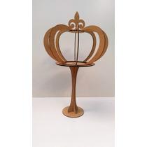 Coroa 3d G-com Pedestal-festas-artesanatos-mdf Cru