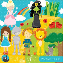 Kit Scrapbook Digital Mágico De Oz Imagens Clipart
