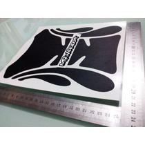 Protetor Tanque Moto Adesivo Preto Fosco 24cm Frete Grátis