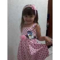 Vestido Infantil Para Festas Bolinha Escolha O Seu!!!