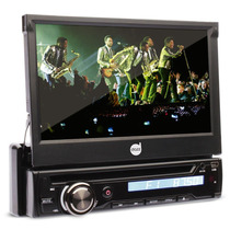 Dvd Retratil 7 Polegadas Touchscreen Usb Controle Remoto