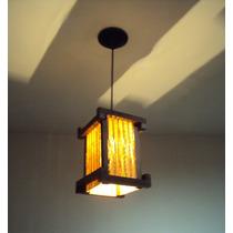 Luminária De Teto Lustre Rustico Japones Sala Quarto