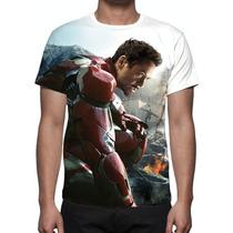 Camisa, Camiseta Os Vingadores 2 Ultron Homem De Ferro