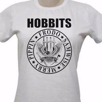 Camiseta Baby Look Hobbits - O Senhor Dos Aneis