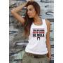Camiseta Regata Feminina Delicada Feito Coice De Mula