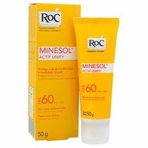 Protetor Solar Roc Minesol Actif Unify Fps60 Gel-creme 50g