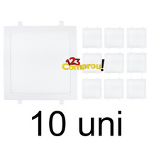 Kit 10 Painel Plafon 25w Led Quadrado Embutir - Frete Grátis