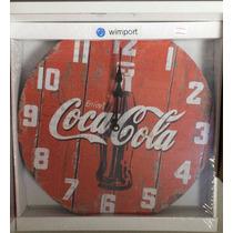 Relógio Parede Madeira Coca Cola Bar Restaurante Churrasquei