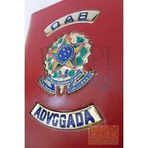 Porta Cheques Couro Legítimo Advogada Oab Frete Grátis C64v