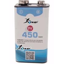 Bateria Recarregável 9v 450mah Kp-bt9v Knup Blister Original
