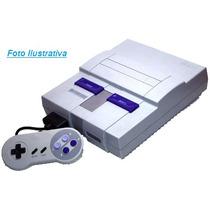 Super Nintendo Com 2 Controles Cabo, Fonte E 1 Jogo Clássico