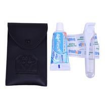 Kit Higiene Bucal De Couro Manufaturado Artlux - Ref.: Bh04