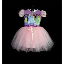 Vestido Infantil Festa Princesas Bailariana Fantasia