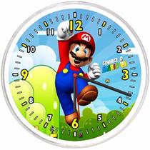 Relógio De Parede Decorativo Super Mario Bros Infantil