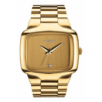 Relógio Nixon Big Player 44mm Cor Ouro Com Pedra Diamante