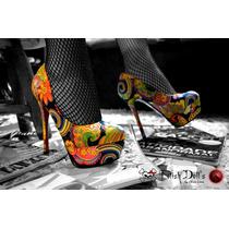 Frete Grátis! Tam. 36 Sapato Feminino Plataforma Salto Alto