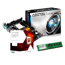 Kit Amd Asrock Am3 + Fx 4300 3.8ghz Quad Core + Memória 4gb