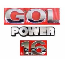 Emblema Gol G3 + Power 1.6 - Geração 3 - Modelo Original