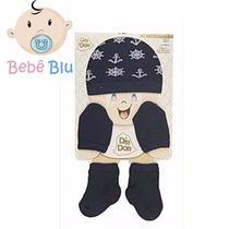Bebe Kit Touca Luva Meia Enxoval Maternidade Conforto