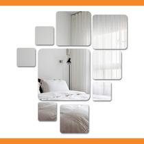 Espelho Decorativo - Sala - Quadrados- 50 Cm X 40 Cm