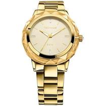 Relógio Technos 2035mcm/4x 2035mcm 4x Dourado Ouro Swarovski