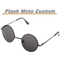 Óculos De Sol Redondo Lentes Escuras Vintage Steapunk Retro