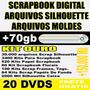 Dvd Mega Kit Scrapbook Digital + Silhouette + Moldes