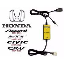 Adaptador Interface Usb Aux Honda - New Civic Crv Fit Accord