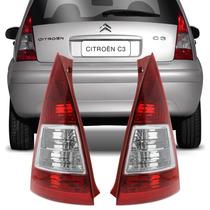 Lanterna Traseira C3 2007 2008 2009 2010 2011 2012 Bicolor