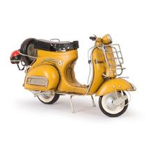 Miniatura Lambreta 1959 Vespa Gs 150 Amarelo Em Ferro