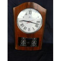 Relógio De Parede Pendulo De Madeira Transistora Antigo