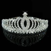Tiara Arranjo Arco Coroa Noiva Noivado Debutante Com Cristai