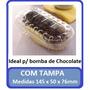 Embalagem Com Tampa Para Doce Bomba Bolo Salgado 25 Unidades