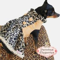 Roupinha Para Cachorro - Vestido Beyonce/oncinha (pp) - Loja