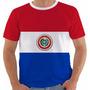 Camisa Camiseta Baby Look Regata Paraguai Bandeira