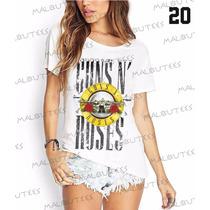 Guns N Roses Fashion Camisetas T-shirts Banda De Rock Pop
