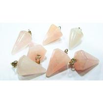 Pingente Pêndulo De 2cm Quartzo Rosa Natural Pedra Do Amor !