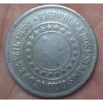 Moeda 200 Reis 1889 República Velha