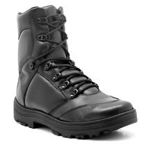 Bota Motocilcista Atron Shoes 281 Couro Militar Bope Policia